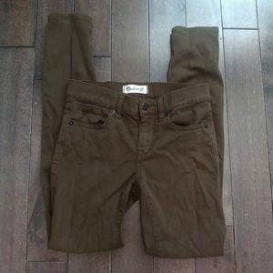 Madewell Military Green Skinny Skinny Sateen Jeans